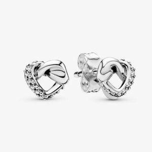 Pandora Knotted Heart Stud Earrings